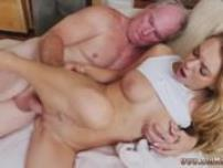 Old granny threesome Molly Earns Her Keep