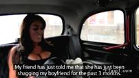 Amateur with massive tits bangs in cab