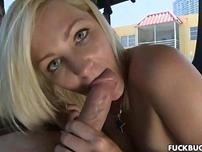 Blondie swallows some dick