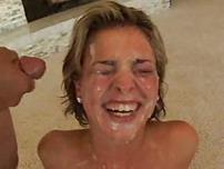 Cum Covered Brunettes That Love Facial Delights