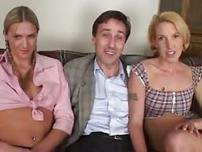Hot blonde chick shags with married couple