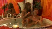 Very Hot Lady Massages Man In Tub Then Jerks Him Off