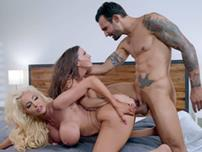 Abigail Mac Nicolette Shea and Alex Legend in threesome