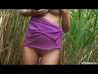 Carol\\'s wild outdoor masturbation