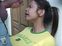Cute asian loves to suck