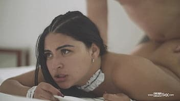 Leila in two guys fuck leila in an out door sex video